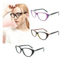 Wholesale Forever Bags - Cat Eye Shape Trendy Forever Brand Designer Clear Lenses full rim purple black brown Women Optical Frames
