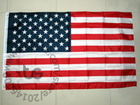 Wholesale Home Decoration Ship - United States USA US America flag national Free shipping 3x5 FT 90*150cm Hanging National flag USA Home Decoration flag banner