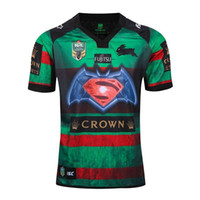 Wholesale Shirt Batman - 2017 New Zealand BLUES STATE Rugby New Zealand Warriors Rugby Shirt Munster Maori South Sydney Rabbitohs Batman Rugby Jersey