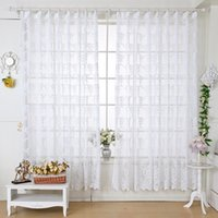 140Cm * 225Cm Window Shades Jacd Cortinas Caffe Color Light Transthrough Classic Window Gauze Living Curta para sala Decoração