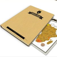 Wholesale Scratching Map - Luxury Diary Travel Travelogue Map Scratch Map Travel Log Tourist Maps Notebook Wallpapers DIY Gift with 8 mini World Map