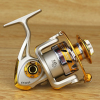 Wholesale Bait Feeder - YUMOSHI brand new Spinning Fishing Reel 5.5:1 Fishing tackle pesca Reel Feeder Carp Fishing Wheel EF1000-7000