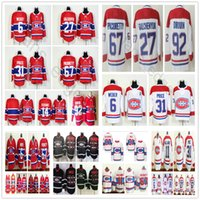 2018 New Style Montreal Canadiens 6 Shea Weber 11 Brendan Gallagher 27 Galchenyuk 31 Carey Price 67 Max Pacioretty 92 Jonathan Drouin Jersey