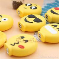 Wholesale Bank Power Iphone Cute - Carton Emoji Cellphone Power Banks 8800mAh Mini Cute Powerbanks External Battery Charger Smile Face Portable Power Banks for iPhone 7 Plus