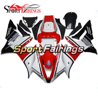 Full Motorcycle Gloss White Black Red Fairings Pour Yamaha YZF1000 R1 02 03 2002 2003 Injection ABS Carénages Carrosserie de moto Cowlings