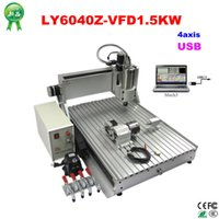 Wholesale Water Drilling Machines - 4axis cnc drilling machine 6090Z-VFD1.5KW USB port and 1500W water cooling spindle include tax to Russia