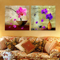 Wholesale Abstract Wall Canvas Art - Moth Orchid Oil Painting Canvas No Framework Picture Abstract Print For Home Modern Decoration Wall Art