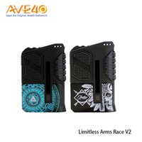 Wholesale Dual Arm - Limitless Arms Race II Vape Box Mod fit Dual 18650 Battery 200w Out Put Update Limitless LMC 200W 100% original