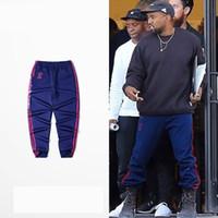 kadın hip hop spor pantolon toptan satış-2017 Kanye West Sezon 4 Eşofman CALABASAS Hip-Hop joggers pantolon spor koşu eşofman altı erkekler için / kadınlar 5 renkler