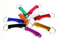Wholesale Wine Openers Small - Solid Aluminum Pocket Key Chain Beer Bottle Opener Claw Bar Key Chain Beer Bottle Opener   Pocket Small Bar Claw Beverage Keychain Ring