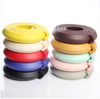 Wholesale safety strips 2m resale online - Child Safety Products m edge guard Baby Safety Corner protector Table Edge Corner Cushion Strip with M Sticker L type