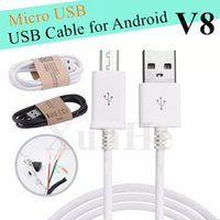 Wholesale Android Adapters - V8 Micro USB Cable CellPhone Charger Data Sync Cable For Android USB Adapter For Samsung LG HTC Sony Nokia Fast Charger USB Cable