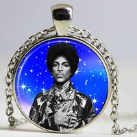 Wholesale prince music - New Music Memorial Necklace Prince RIP Symbol Love Logo hermaphrodite Necklace Artist Gothic Glasses Pendant Necklaces Gift