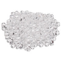 Wholesale Party Scatters - Wholesale-5000Pcs Clear Faux Fake Sprinkle Blink Diamonds Confetti Craft DIY Wedding Party Tabletop Scatters Decoration 4.5mm
