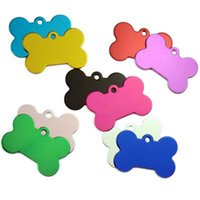 Wholesale Laser Pet Tags - wholesale Aluminum Alloy blank Pet Dog ID Tags Anodized surface laser engravable Identity Tags