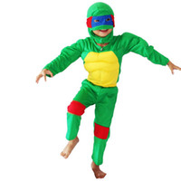 Wholesale Ninja Turtles Halloween Costumes - 3 - 7 years Cosplay Party Kid Comic Marvel teenage mutant ninja turtles Muscle Halloween Costume boy roll play clothing