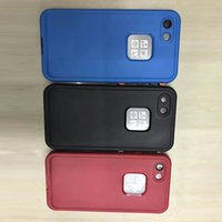 """Wholesale Waterproof Box Case - AAA++ Quality iPhone7 Cases FRE Waterproof Shockproof Snowproof Dirt SnowProof Case For iPhone 7 4.7"""" with Retail Box FRE black Red Colors"""