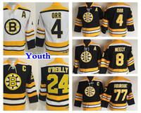 Youth Retro Boston Bruins Hockey Jersey 8 Cam Neely 4 Bobby Orr 77 Ray  Bourque 24 Terry O Reilly Kids Vintage CCM Black Jerseys d7240e1cc