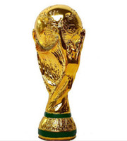 Wholesale Gift Football World Cup - 2018 Russia World Cup Soccer Trophy Size Replica Football Statue Model GIFT