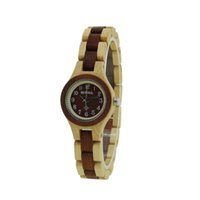 Wholesale Ladies Wooden - Womens Watch 2017 Fashion Small Round Dial Wood Wristwatch Japan Quartz Movt Wooden Watches for Ladies Bewell W123A