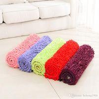 Wholesale plush bedroom carpets for sale - Rectangle Carpet Suede Mats Plush Dust Remove Doormat Absorbent Floor Bathroom Rug Velvet Non Slip Pad jy J R