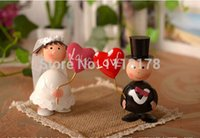 Wholesale love figurine - Wholesale- Cheap love wedding cake toppers decorations bride and bridegroom Figurine cake topper decor Valentine's Day gift 11