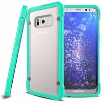 Wholesale Iphone Bumper Matte Back - Shockproof Hard Phone Bumper Case For iPhone 7 6S Plus Cover Back Clear Matte Armor Funda Soft TPU Bumper Cover for Samsung Galaxy S8 S7 S6