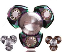 Wholesale Fidget Spinner Top Quality Hand Spinners EDC Novelty Decompression Toy Hand Spinning mins High Speed Relieves Anxiety Metal Copper