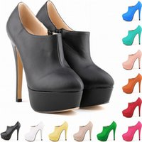 Wholesale Ladies High Heels Size 11 - Zapatos De Mujer Brand New Women Concealed Platform Ladies Stiletto Boots Womne Court Shoes Us Size 4 5 6 7 8 9 10 11 D0032