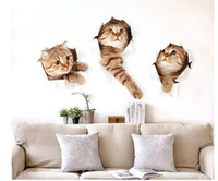 Wholesale Art Wall Sticker Cats - New Style 3D Cute Cat Wall Sticker Home Decoration Home Sticker