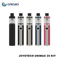 Wholesale E Cigarette Stater Kits - Original Joyetech Unimax 25 Stater Kit 25mm Diameter 3000mah with 5ml Top Refilling Unimax 25 Tank E Cigarette