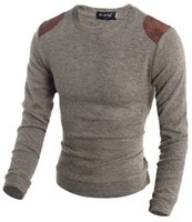Wholesale Ebind Mens Classic Slim Spliced Knit Vouge Pullover Sweaters