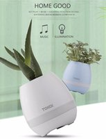 Wholesale Music Song Mp3 - TOKQI Smart flowerpot Smart Bluetooth Wireless Music Speaker With Light Touch Plant Can Sing songs Stress Toy For Anxiety Stress Relief