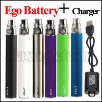 Hot selling 2017 E Cigarette eGo T EVOD Battery EGO-T 510 Thread For Electronic Cigarette Battery 650mah 900 1100mah Capacity with Ego 510 USB charger