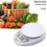 Wholesale food diet scales - High Quality 5000g 1g 5kg Food Diet Postal Kitchen Digital Scale scales balance weight weighting LED electronic