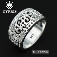 Wholesale Unique Style Engagement Rings - SALE Best Selling 2017 Hot Wholesale Price silver Ring Flower plant sterling Hollow gift jewelery unique style unisex women 925