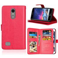 macht geld großhandel-9 Kartensteckplatz Geld fotorahmen Stehen Brieftasche Fall für LG G5 K3 K4 2017 LV3 X POWER X Bildschirm X Com K7 K8 K10 50 TEILE / LOS