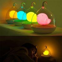 mini çocuk gece ışığı toptan satış-Yaratıcı Rüya Birdcage LED Gece Lambası Mini USB Işık Göz Koruma Oyuncak Hediye Çocuk Yatak Odası için Açık akıllı dokunmatik dimmer ile