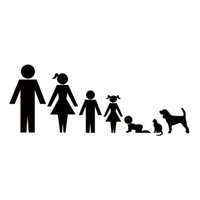 Wholesale Family Stickers For Car Windows - Family Member Car Stickers Family Figures Car Decals For Car Window Tailgate JDM