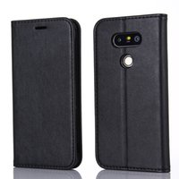 """Wholesale Deluxe Leather Wallet - Deluxe Black Pu Leather Flip Stand Wallet Card Holder Pouch Cover Case For LG G5 H830 5.3"""" Protective Shell"""