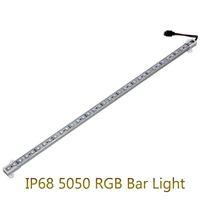 aquarium led-lichtstreifen großhandel-5050 RGB LED Bar Licht DC12V 36LED 50 cm IP68 Wasserdicht Aquarium Beleuchtung LED Streifen Bar Licht