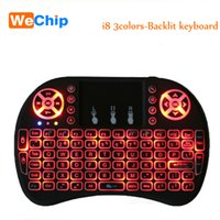 Wholesale Original Razer Mouse - Original Backlight i8 English 2.4GHz Wireless Keyboard Air Mouse Touchpad Handheld Backlit for Android TV BOX Mini PC 3 Colors