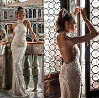 best muslim high neck wedding dress - full embellishment elegant glamorous sheath wedding dresses 2018 julie vino bridal sleeveless halter neck open back sweep train