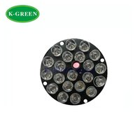 Wholesale Cctv Led Board - Wholesale- 10X 21LEDs 12V F8 850nm IR infrared LED light board for CCTV camera free shipping