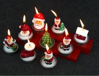 Wholesale Xmas New Candle - Christmas Candle 2017 New Fashion Christmas Decorative Candles Cute Santa Claus Xmas Eve Candles Home Decoration c227