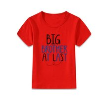 Wholesale Bulk Shirts - big brother at last t-shirts children baby short sleeve t-shirt shirts baby round neck clothes tops kids basic dress in summer bulk boutique