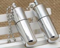 Wholesale Oil Smoke Mirrors - pill case shape lighter Mini Smooth Polished Mirror Metal Lighter Oil Cigarette Smoking Cigar Flint Kerosene Lighter