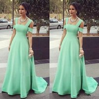Wholesale Mint Bridesmaids Dresses - 2017 Mint Green Cheap Bridesmaid Dresses Off the Shoulder Floor Length Wedding Guest Wear Plus Size Custom Made Maid Of Honor Gowns A-Line