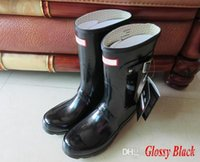 Wholesale Factory Outlet Sales - 2017 Hunter Rain Boot Factory Outlets Women Short boots Waterproof Boots Wellies Over Knee Women Shoes Boots Sale 2017 Hunters