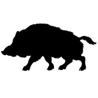 Wholesale Vinyl Surfaces - A Wild Boar Silhouette Car Window Sticker Vinyl Decal Funny Truck Bumper Wall Graphics Computer Car Styling All The Smooth Surface JDM